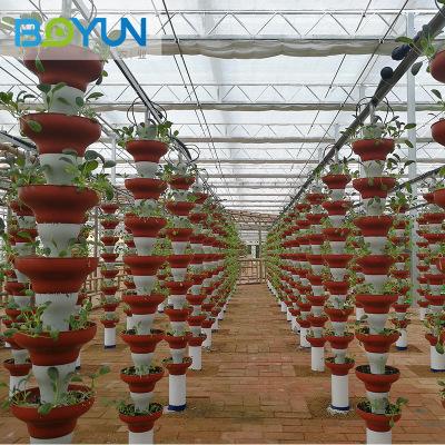 叠碗立式基质栽培 承接无土栽培工程设计安装及技术指导