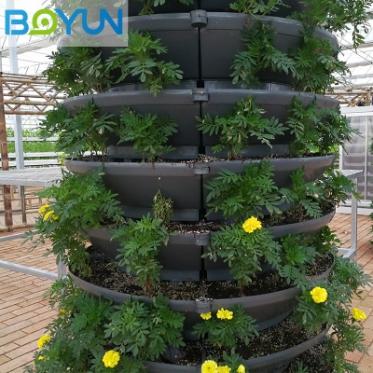 抱柱式立体栽培 温室无土栽培系统设计安装技术指导 无土栽培设备