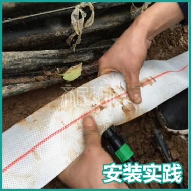 大棚滴管系统设计安装一体化 主管带 旁通 滴灌带