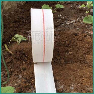 2.5寸PE高分子编织白色大棚滴灌用主管软带 耐高压耐腐蚀