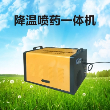 温室大棚全自动雾化喷药机 大棚降温喷药一体机 高压喷药机